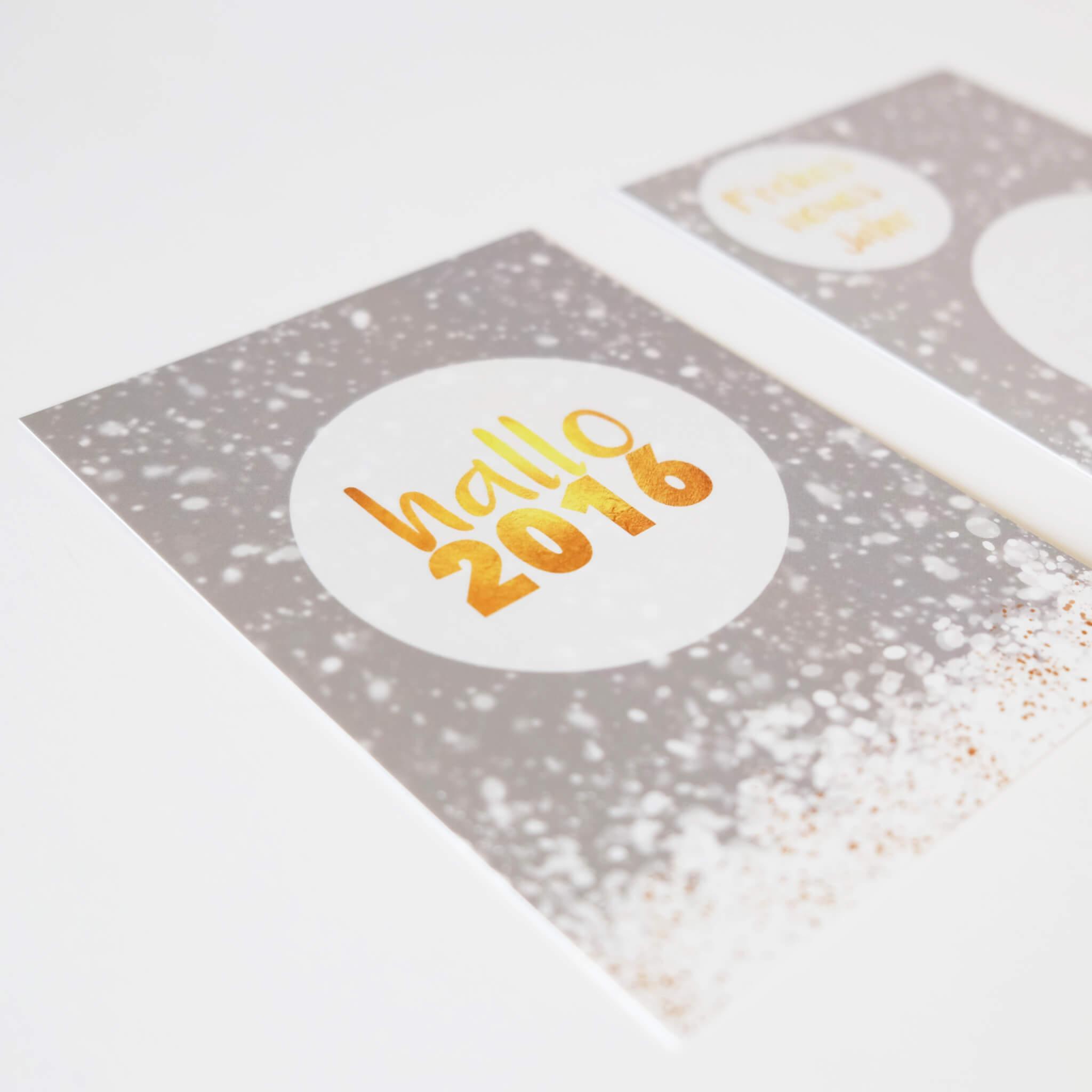 Hallo 2016 – eine Neujahrskarte